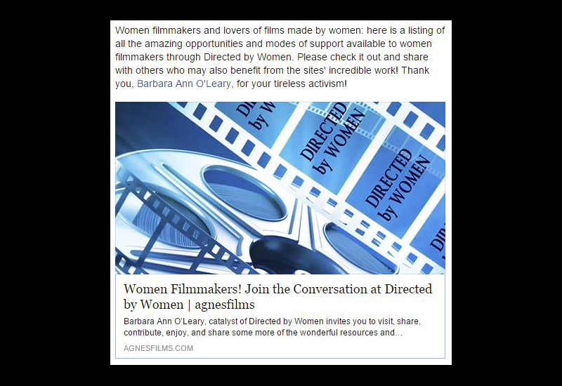 Women Filmmakers! Join the Conversation at Directed by Women