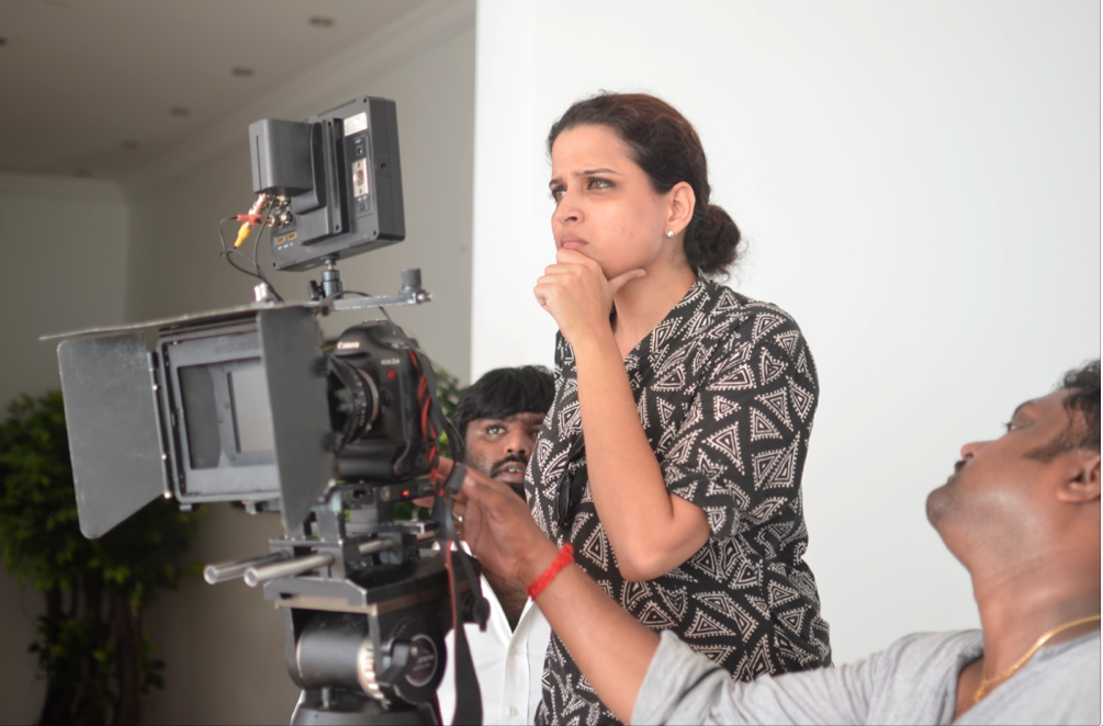 Vaishnavi Sundar at work on a commercial production