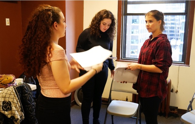 Left: Jessica Fornear (director), Centre: Sophie Max (writer/Callie), Right: Fay Koulouri (Jenn)