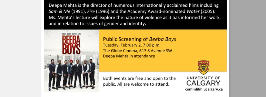 Beeba Boys: Director Deepa Mehta in attendance