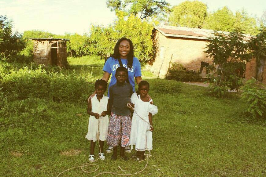 Kate Gondwe with children from Dreams of Nthulu Short Documentary