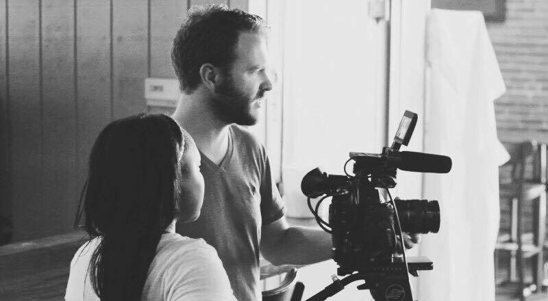 Kate Gondwe directing during the filming of my first corporate commercial with DP Eron Rawson