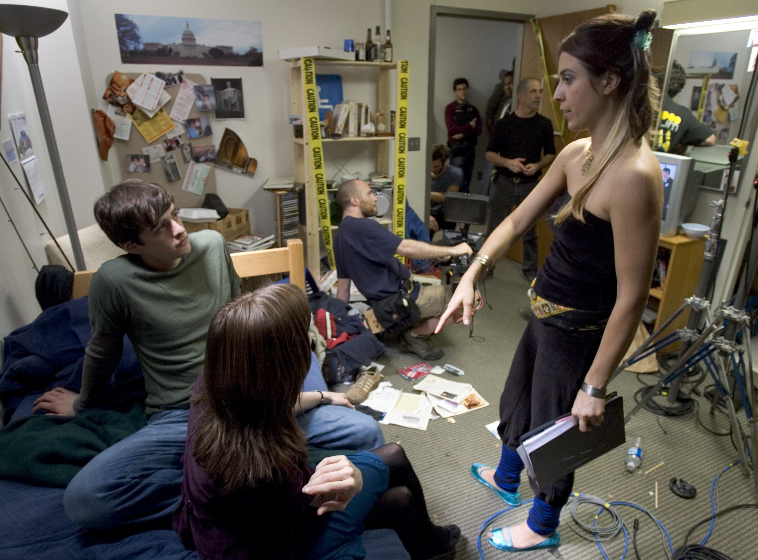 Leah Yananton directing Vincent Piazza and Christine Ryndak