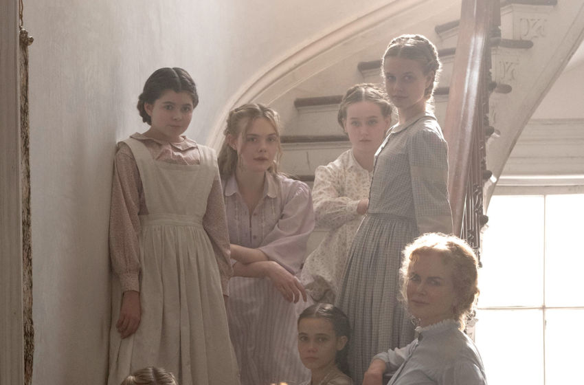 On set of The Beguiled