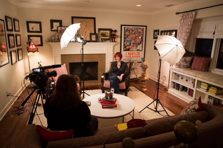 Chrissy Guest behind the scenes with Lauren Faust