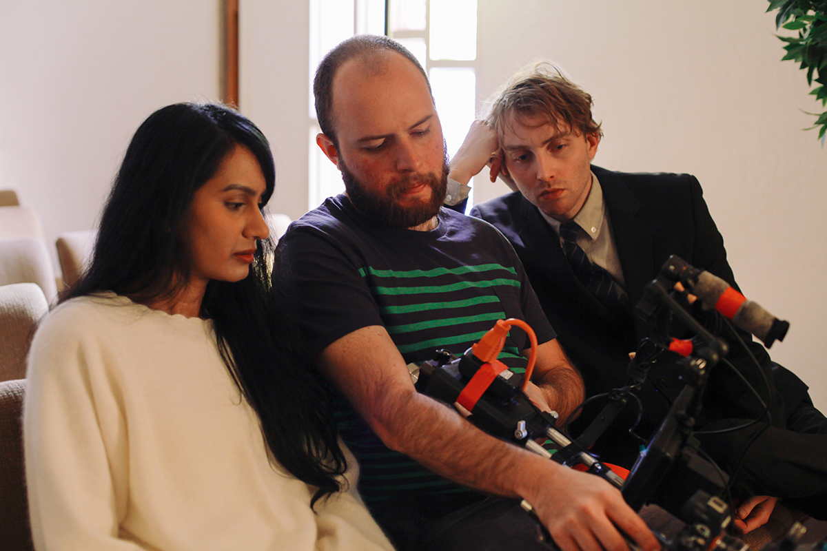 BTS on the set of We Were Islands