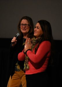 Chelo Alvarez-Stehle and Virginia Isaias after Screening in Minnesota