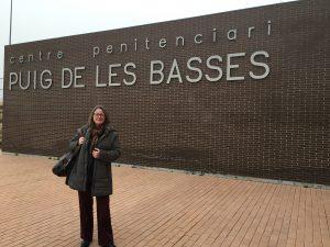 Chelo Alvarez-Stehle entrance Figueres Prison