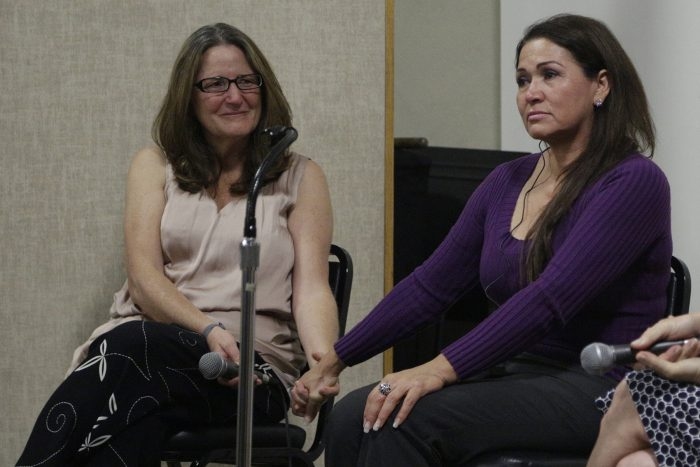 Chelo Alvarez-Stehle and Virginia Isaias [Photo: Bill Sparkes]