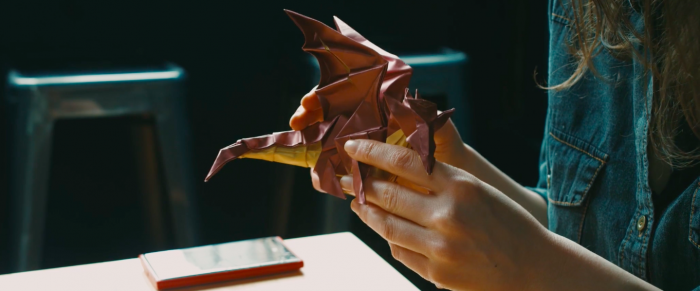 Origami master Paul Frasco - dragon whelp design for MIA. Photo courtesy of Ring the Bells Productions © 2018