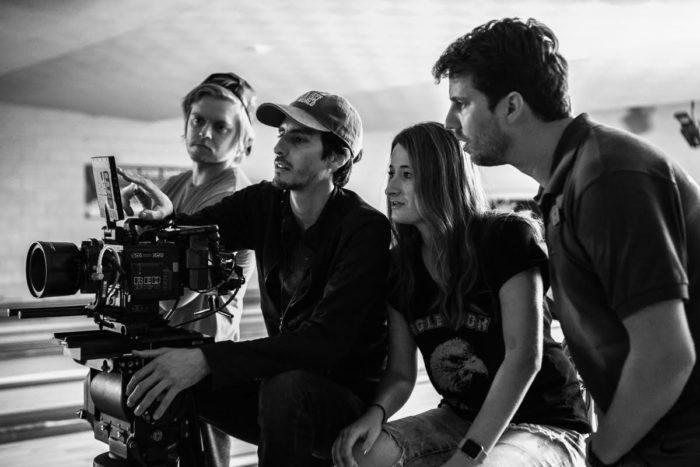 (left to right) Jordan Allen (VFX Supervisor), Nico Aguilar (Cinematographer), Kendall Goldberg, Jon Heder