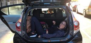 Marisol BTS Zoe in trunk