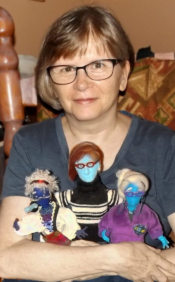 Deb Ethier and puppets